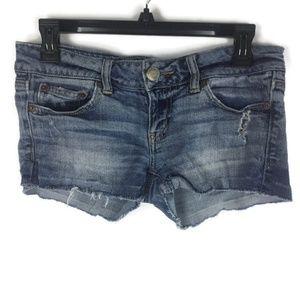American Eagle Short Denim Shorts Sz 4 Womans
